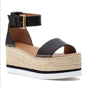 See by Chloe - Glyn Leather Espadrille Platforms